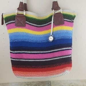 The Sak crochet multi color purse